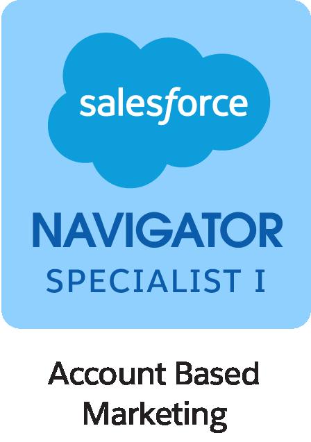 Salesforce Navigator Specialist I Account Based Marketing Badge